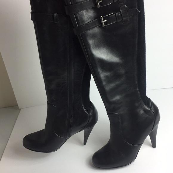 Cole Haan Nike Air Black Heeled Leather